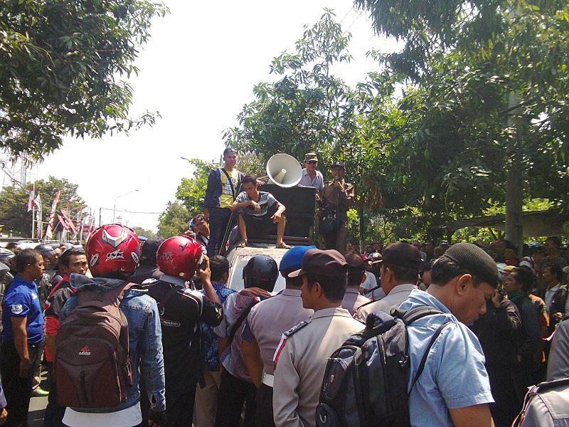Bikin Ricuh, Satu Orang Diamankan Dalam Demo Sidang Sengketa Pilkada Pemalang
