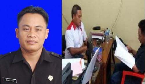 Tersangka, Suwatno saat proses BAP di Polres Pemalang