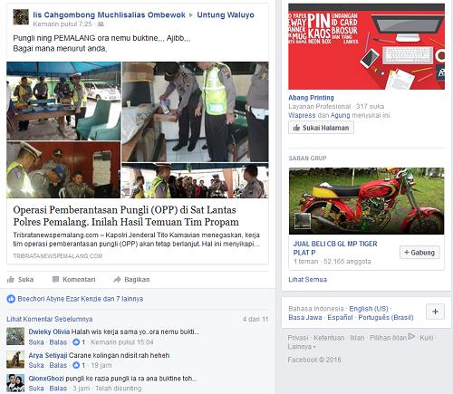 netizen ramai bicarakan OPP di Sat Lantas Pemalang