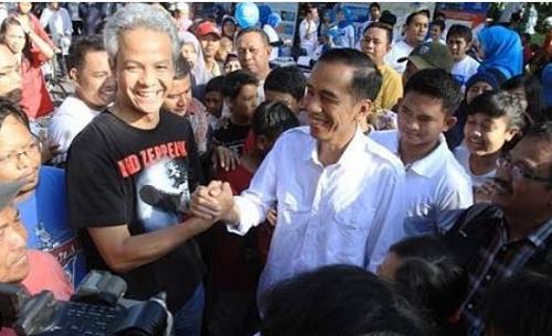 Ganjar Pranowo Cagub Jateng Bersama Jokowi