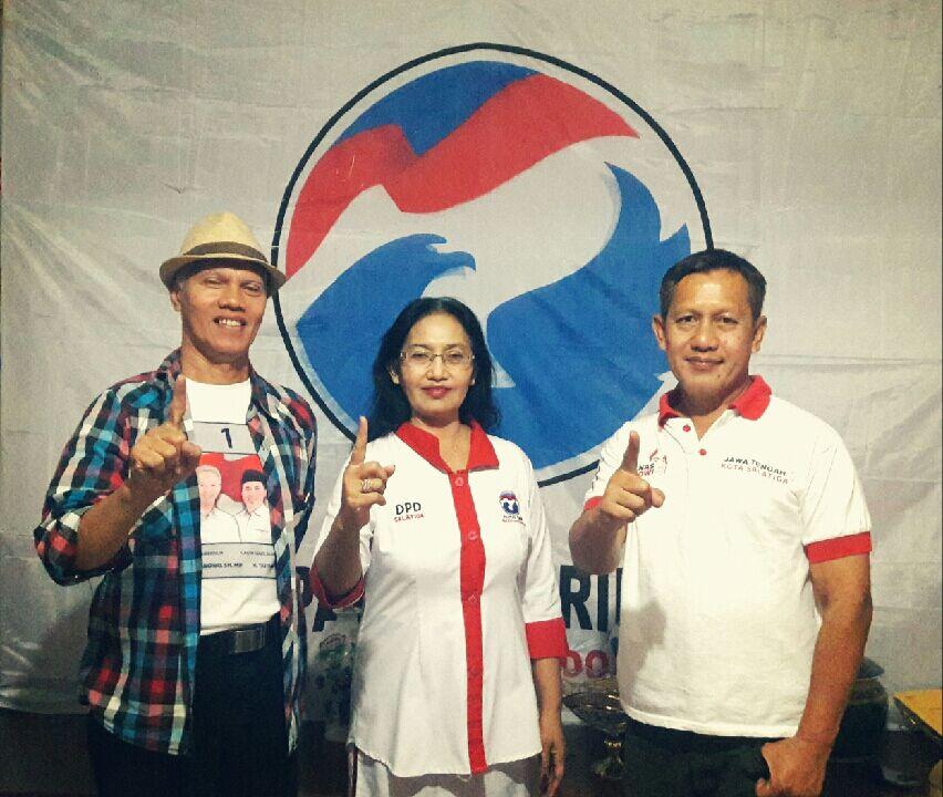Relawan Seknas Jokowi Salatiga Bersama Ketua Perindo Salatiga
