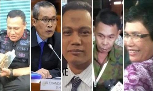 Ini Profil Singkat Lima Pimpinan Baru KPK periode 2019-2023
