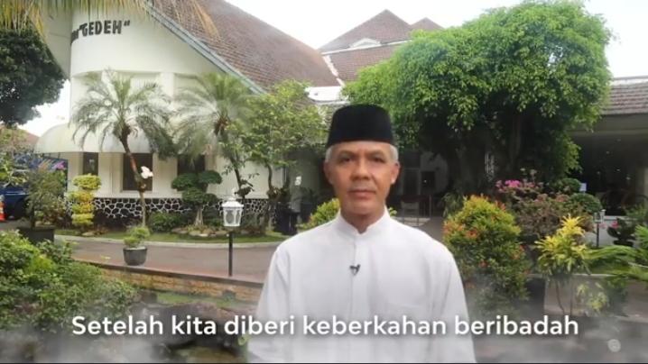 Gubernur Jawa Tengah Ganjar Pranowo Ucapkan Selamat Menjalani Ramadhan Di Tegah Pandemi Covid 19.