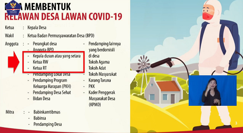 Keemtrian Desa Terbitkan SE Pembentukan Relawan Desa Lawan Covid-19, Atasi Logistik Warga Terdampak Ekonominya