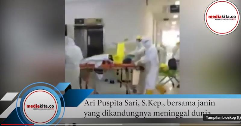 Bersama Janin Dikandungannya, Perawat Ari Gugur di Medan Laga Lawan Corona Dokter Tirta, Bendera Setengah Tiang !