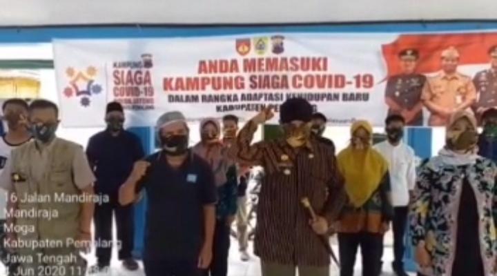 New Normal, Desa Mandiraja Pemalang Deklarasi Kampung Siaga Covid-19