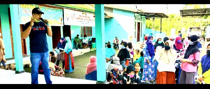 Kepala Desa Gendoang Pemalang, Salurkan Bantuan Sosial Non Tunai ( BSNT) Provinsi Jawa Tengah Kepada 435 KK