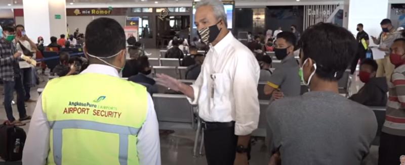 Mengejutkan, Begini Fakta Saat Ganjar Pranowo Sidak Bandara A Yani Semarang