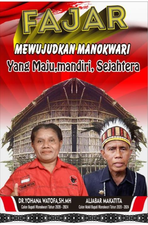 REPDEM Papua Barat Dukung Pasangan FAJAR Maju Dalam Pilkada Manokwari