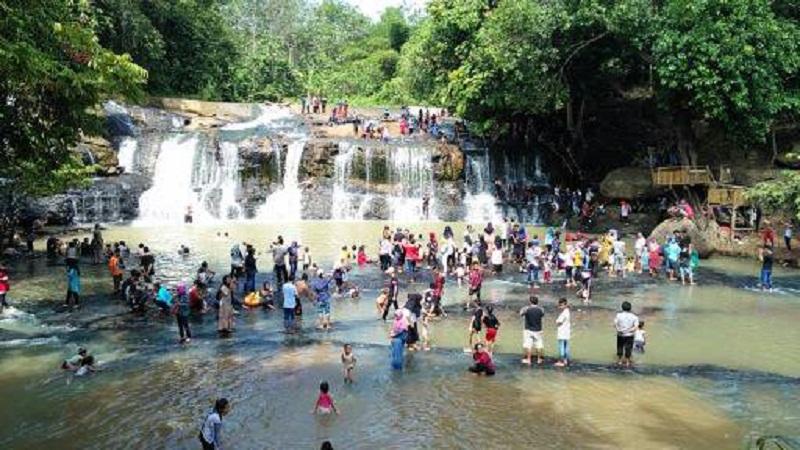 Pandemi Covid-19, Curup Kereta Desa Rambang Jaya, Way Kanan, Lampung Tak Pernah Sepi Pengunjung
