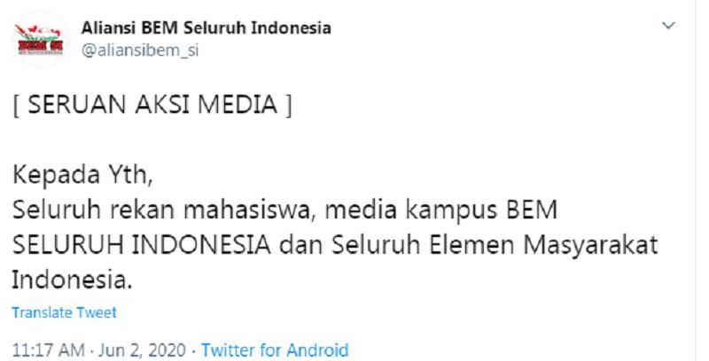 Aksi Demo Mahasiswa Seluruh Indonesia Tolak UKT, Tagar #Mendikbud Dicari Mahasiswa Trending